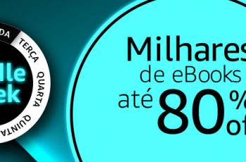 Kindle Week: R$ 80 em leitores Kindle e eBooks por até 80% OFF