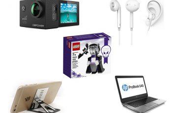 Ofertas internacionais da semana: Lego, Laptop HP, Base para smartphone, Câmera de ação e mais