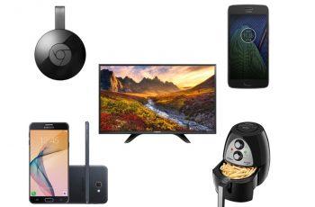 Ofertas nacionais da semana: Motorola G5, Samsung Galaxy, TV LED, Mondial AirFryer e mais