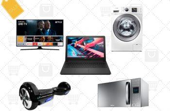 Ofertas nacionais da semana: Hoverboard, TV LED, notebook, lava e seca, micro-ondas e mais